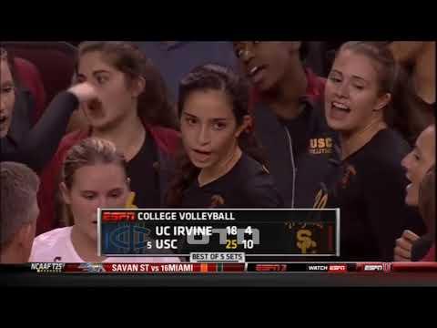 #tb Samantha Bricio (USC) vs UCI 130918