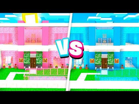 CRAZY Boy vs Girl MODDED Minecraft HOUSE Battle!