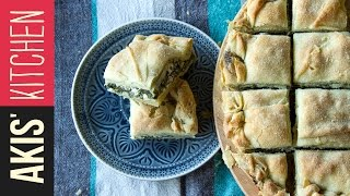 Spinach & Feta Cheese Pie | Akis Kitchen by Akis Kitchen