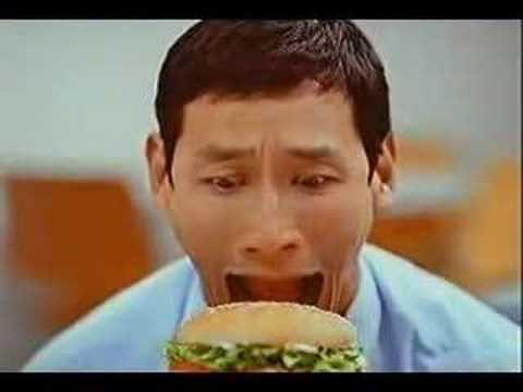 burger king eat like snake commercial