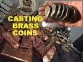 METAL CASTING MOLTEN METAL BRASS COIN CASTING MELTING BRASS May 2017 waptubes