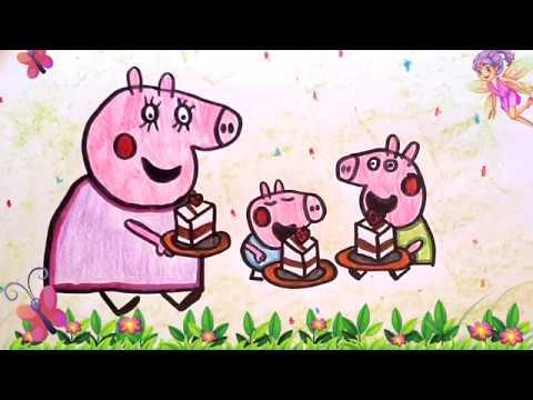 Peppa Pig en español - Peppa Pig va de picnic con mama pig y George