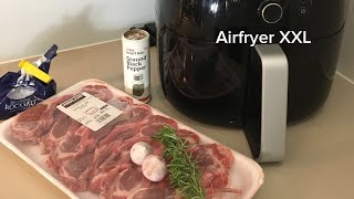 13 AUSTRALIAN lamb chop cutlets in Philips AirFryer XXL Avance  - Airfried grilled rosemary & garlic