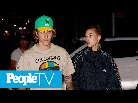Justin Bieber And Hailey Baldwin Seen At New York Courthouse's Marriage Bureau | PeopleTV