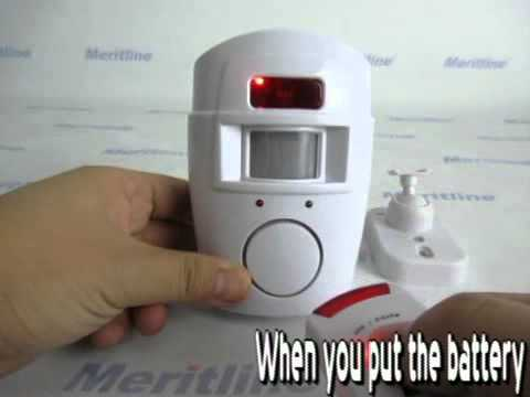Infrared Remote-controlled Sensitive Home/Office Security Alarm with 2*Remotes(#400-216)