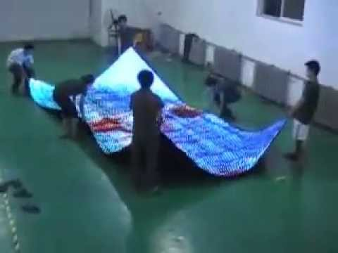 Low cost flexible  LED screen wall - STC-P25mm in factory internal Show.