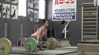 Audra clean, Alyssa clean jerks, Aimee snatch push press + OHS, Audra clean pull. - Weight lifting,