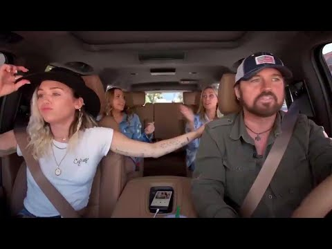 Miley, Noah and Billy Ray Do 'Carpool Karaoke' With the Whole Cyrus Family -- Watch!