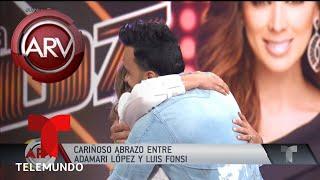 El emotivo reencuentro de Adamari López y Luis Fonsi | Al Rojo Vivo