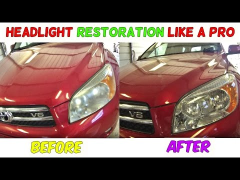 How To Restore Headlight Permanently
