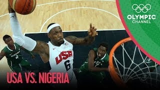 USA v Nigeria  USA Break Olympic Points Record  Mens Basketball Group A  London 2012 Olympics