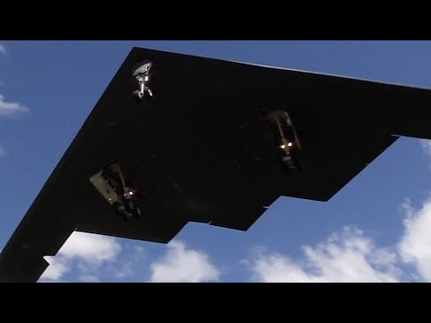 Two B-2 Spirit Stealth Bombers...