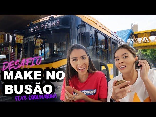 DESAFIO de MAKE no TRANSPORTE PÚBLICO   MAKE FESTA - Joyce Kitamura