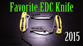 Discussing what my Favorite Knife Purchase was in 2015. The four knives I purchased for EDC in 2015:-Spyderco Salt 1-Kershaw Thistle-Spyderco Sage Carbon Fiber-Spyderco Atlantic SaltWhich one was my favorite?Do Knife Serrations really suck? Sharing my thoughts on the topic, and demonstrating some cutting with a serrated Spyderco Atlantic Salt H1 knife.Hidden Giveaway details:Giving away a Kershaw Thistle. Leave a comment below and tell me what your favorite EDC knife purchase was in 2015 thus far. Winner will be chosen at random later this week and contacted via YouTube. Must be legally able to own/buy a knife for me to ship it to you. Good luck!I'd appreciate if you could like our FB page here (You will get FB updates when I post a new video): http://www.facebook.com/beactivelifeAnd follow on twitter as well here:https://twitter.com/beactivelife