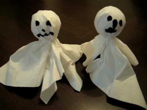 Gespenster basteln zu Halloween