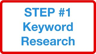 Foundation of a successful and profitable SEO campaign is finding high volume and converting keywords that equal a huge ROI in the short term and long term …more info: http://tytseo.com/free-training#keyword_research