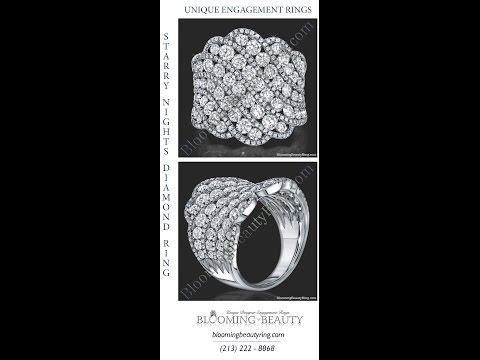 Unique Diamond Anniversary Rings