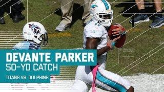 Ryan Tannehill Hits DeVante Parker for a 50-Yard Gain! | Titans vs. Dolphins | NFL by NFL
