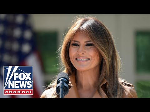 Melania Trump Speaks At A Toys For Tots Event