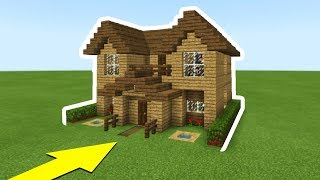 "Minecraft Tutorial: How To Make The Ultimate Wooden Starter House ""Everything you need to survive"""