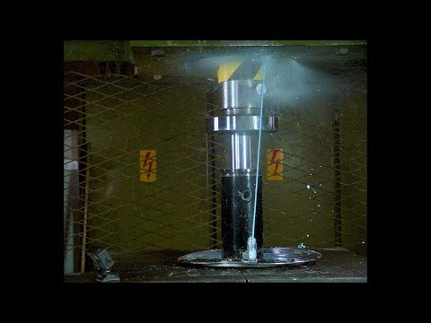 Pushing Non Newtonian Fluid Trough Tiny Hole with Hydraulic Press