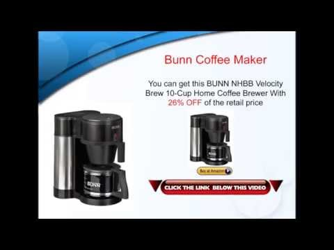 Bunn Coffee Maker – BUNN NHBB Velocity Brew 10 Cup Home Coffee Maker Review