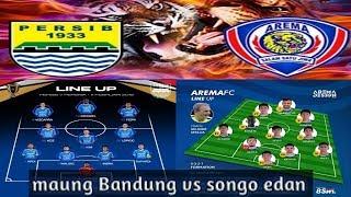 Adu tajam formasi Persib kontra Arema FC