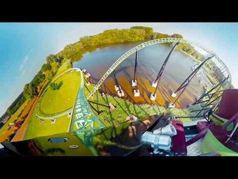 360 view of Goliath Rollercoaster!!! Weeeeeeee!!!!