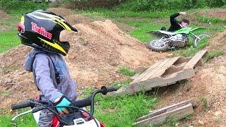 I FLEW OFF!! **Dirt Bike Fail**