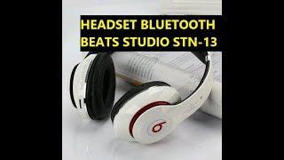 UNBOXING & REVIEW Bluetooth Headset Beats Studio STN-13 (Harga 90ribuan) Bass WOW