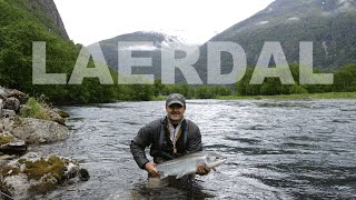 Laerdal Norway  City pictures : Salmon fishing in river Laerdal