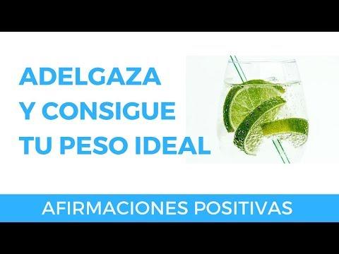ADELGAZAR Y CONSEGUIR TU PESO IDEAL CON AFIRMACIONES POSITIVAS