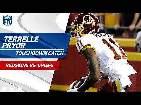 Video: Terrelle Pryor Comes Down w/ TD Bomb from Kirk Cousins! | Redskins vs. Chiefs | NFL Wk 4 Highlights