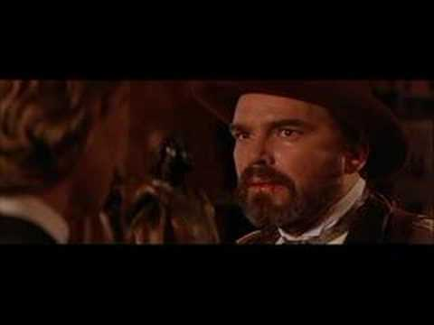 Kurt Russell - A scene from Tombstone. Wyatt Earp (Kurt Russell) calls out Johnny Tyler (Billy Bob Thornton).