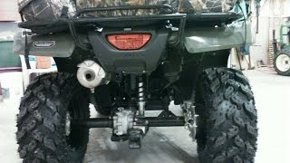8. 2014 Honda Foreman TRX 500 FM1 4x4 Gets New Interco Radial Reptiles Tires And ITP Black Steel Rims w
