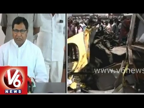 T Congress CLP leader Jana Reddy on school bus accident at Medak