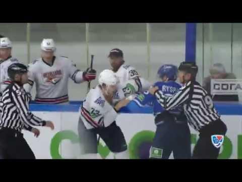 Бои КХЛ: Тимкин принимает вызов Рыспаева / KHL Fights: Ryspayev VS Timkin (видео)