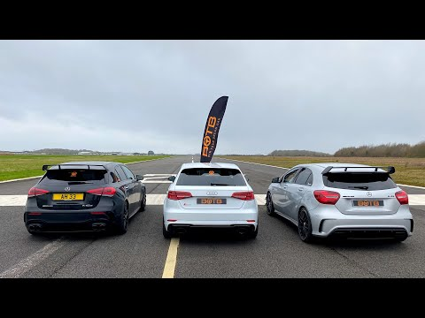 DRAG RACE! AMG A45S Vs Audi RS3 Vs A45 AMG!