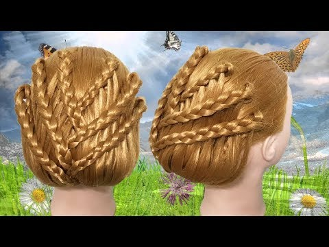 Hairstyles for long hair - Latest Hairstyle For Parties   Fast and easy hairstyle for long hair