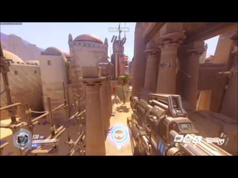 士兵76 阿努比斯神廟全跑酷 火箭跳堪比忍者