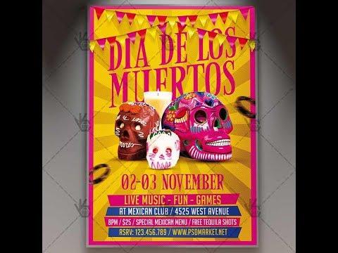 Dia De Los Muertos Party - Mexican Flyer PSD Template
