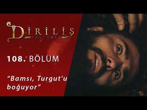 Bamsı, Turgut'u boğuyor - Diriliş Ertuğrul 108.Bölüm