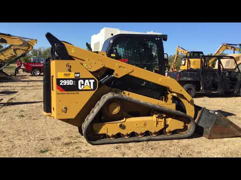 CATERPILLAR MINICARGADORAS 299D2XPS2C equipment video f7jifOZMjpY