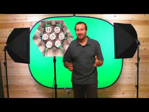 Chroma Key - Photography Lighting set up for chroma key green screen useful for video lighting and for still digital photography, featuring smick.co.uk continuous lightin...