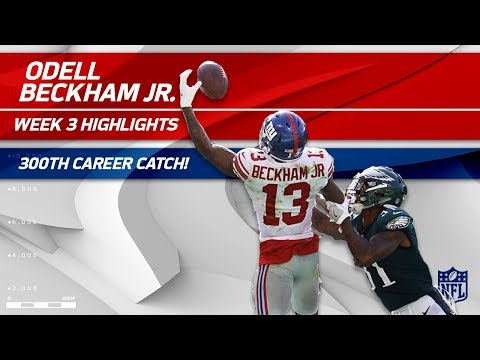 Video: Odell Beckham's 300th Career Catch & Ridiculous One-Handed TD Grab! | Can't-Miss Play | NFL Wk 3