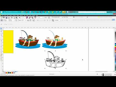 Chipart - Corel Draw Tips & Tricks Color Chip Art to Black & White Vector drawing