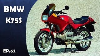 """More:https://goo.gl/37LO9m"""" Click below to Subscribe for more video """" :https://goo.gl/aNL7McAudio:https://www.youtube.com/audiolibrary/musicBMW K75S Motorcycles Produced in 1986-1995. Many riders prefered the light, nimble handling of the K75 series bikes over their four-cylinder K100 siblings in BMW's lineup. The BMW K75S was the apotheosis of the K75 line, weighing 32 pounds less than the K100RS, and sporting an upgraded suspension and impressively wide torque curve. BMW's lightweight 750cc 3-cylinder engine, smaller fairing than the preceding K75C, stiffer suspension, rear disc brake. AND BMW K75S is classic touring motorbike in BMW Motorcycles series."""