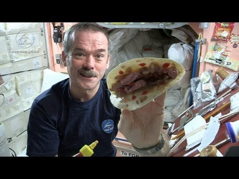 chris - Keeping in mind the challenge of mixing food ingredients in micro-gravity, chef Traci Des Jardins concocts a recipe for spicing up astronaut Chris Hadfield's...