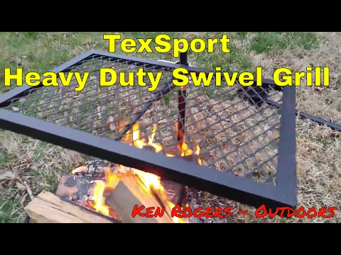 My new Texsport Heavy Duty Grill - Pre-Seasoning
