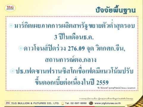 YLG บทวิเคราะห์ราคาทองคำประจำวัน 05-01-16